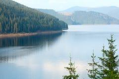 Vue alpine d'été de Vidra de lac Images stock