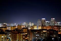 Vue Ankara de nuit Photographie stock