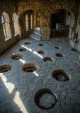 Vue antique d'établissement vinicole de monastère de Nekresi image stock