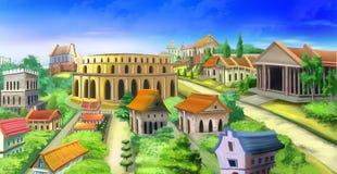 Vue antique de panorama de Rome Image 02 Photographie stock