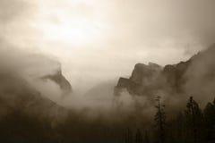 Vue Antiqued de vallée de Yosemite images libres de droits