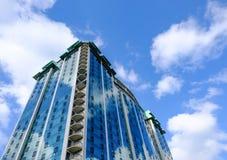 Vue architecturale d'un hôtel moderne de gratte-ciel dans le Canada Photographie stock libre de droits