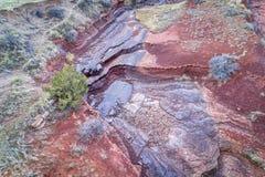 Vue areial de canyon sec de courant Images stock
