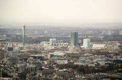 Vue aérienne au-dessus de Bloomsbury, Londres Photos stock