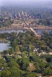 Vue aérienne d'Angkor Wat Image stock