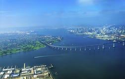Vue aérienne d'île de Coronado, San Diego Photo stock