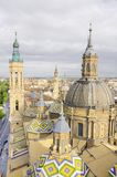 Vue aérienne de cathédrale d'EL Pilar Image stock