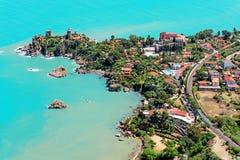 Vue aérienne de Cefalu Photos stock