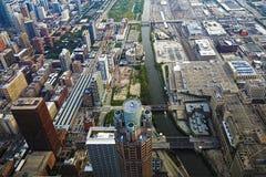 vue aérienne de Chicago l'Illinois Photos stock