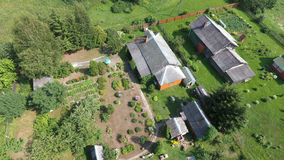 Vue aérienne de domaine de village près de la ville de Pereslavl-Zalessky, Photo stock