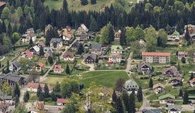 Vue aérienne de Harrachov Photos stock