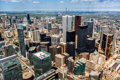 Vue aérienne de l'horizon de Toronto Images libres de droits