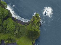 Vue aérienne de la côte du nord, Kauai Photo stock