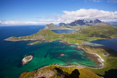 Vue aérienne de Lofoten Image libre de droits