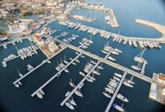 Vue aérienne de marina de Limassol, Chypre Images libres de droits