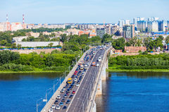 Vue aérienne de Nijni-Novgorod Photos libres de droits