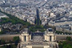Vue a?rienne de Paris Images libres de droits