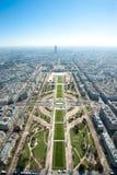 Vue aérienne de Paris, France de Tour Eiffel Photographie stock
