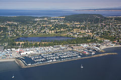 Vue aérienne de port Townsend Images stock