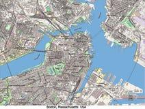 Vue aérienne de recherche de Boston le Massachusetts Etats-Unis salut Photographie stock libre de droits