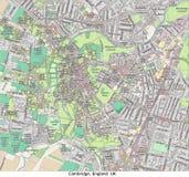 Vue aérienne de recherche de ville britannique de Cambridge Angleterre salut Photographie stock libre de droits