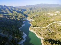 Vue aérienne de rivière de Diarizos, Chypre Photos libres de droits