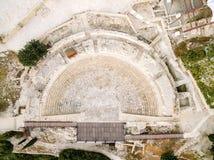 Vue aérienne de théâtre antique de Kourion Photographie stock libre de droits