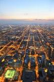 Vue aérienne de ville de Chicago Images libres de droits