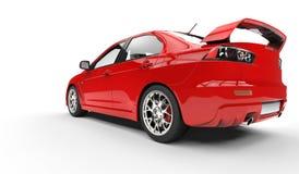 Vue arrière automobile de rassemblement rouge illustration libre de droits