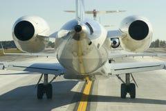 Vue arrière d'avion à réaction Photos libres de droits