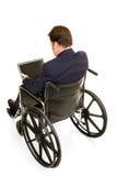 Vue arrière d'homme d'affaires handicapé image stock
