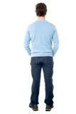 Vue arrière d'un homme dans les vêtements sport Photo stock
