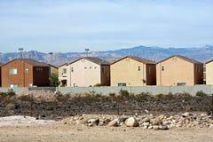 Vue arrière d'une ligne de 2 maisons d'histoire Image libre de droits