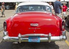 Vue arrière de Chevy Bel Air de 1954 rouges Photographie stock libre de droits