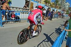 Vue arrière de coureur de cycle photos stock