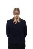 Vue arrière de femme d'affaires Images stock