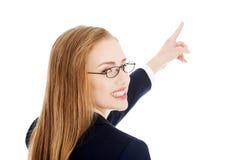 Vue arrière de femme d'affaires Photo stock