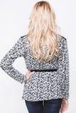 Vue arrière de femme dans des jeans Image libre de droits