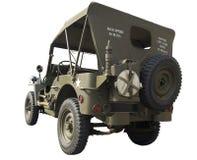 Vue arrière de jeep de WWII Photo libre de droits