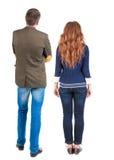 Vue arrière de jeunes couples Photographie stock