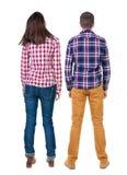 Vue arrière de jeunes couples Image libre de droits
