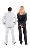 Vue arrière de jeunes couples Photographie stock libre de droits