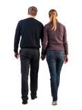 Vue arrière de jeunes couples de marche Photo libre de droits