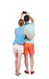 Vue arrière de la photographie de couples Image stock