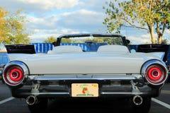 Vue arrière de la voiture de sport blanche Photographie stock