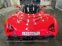 Vue arrière de Marussia b1 images libres de droits