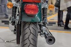 Vue arrière de moto, photo d'intérieur Image stock