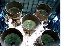 Vue arrière de vaisseau spatial Photo stock