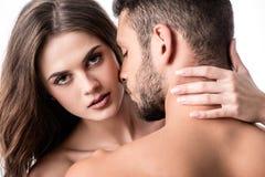 vue arrière des couples sensuels image libre de droits
