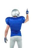 Vue arrière du pointage de joueur de sports images libres de droits